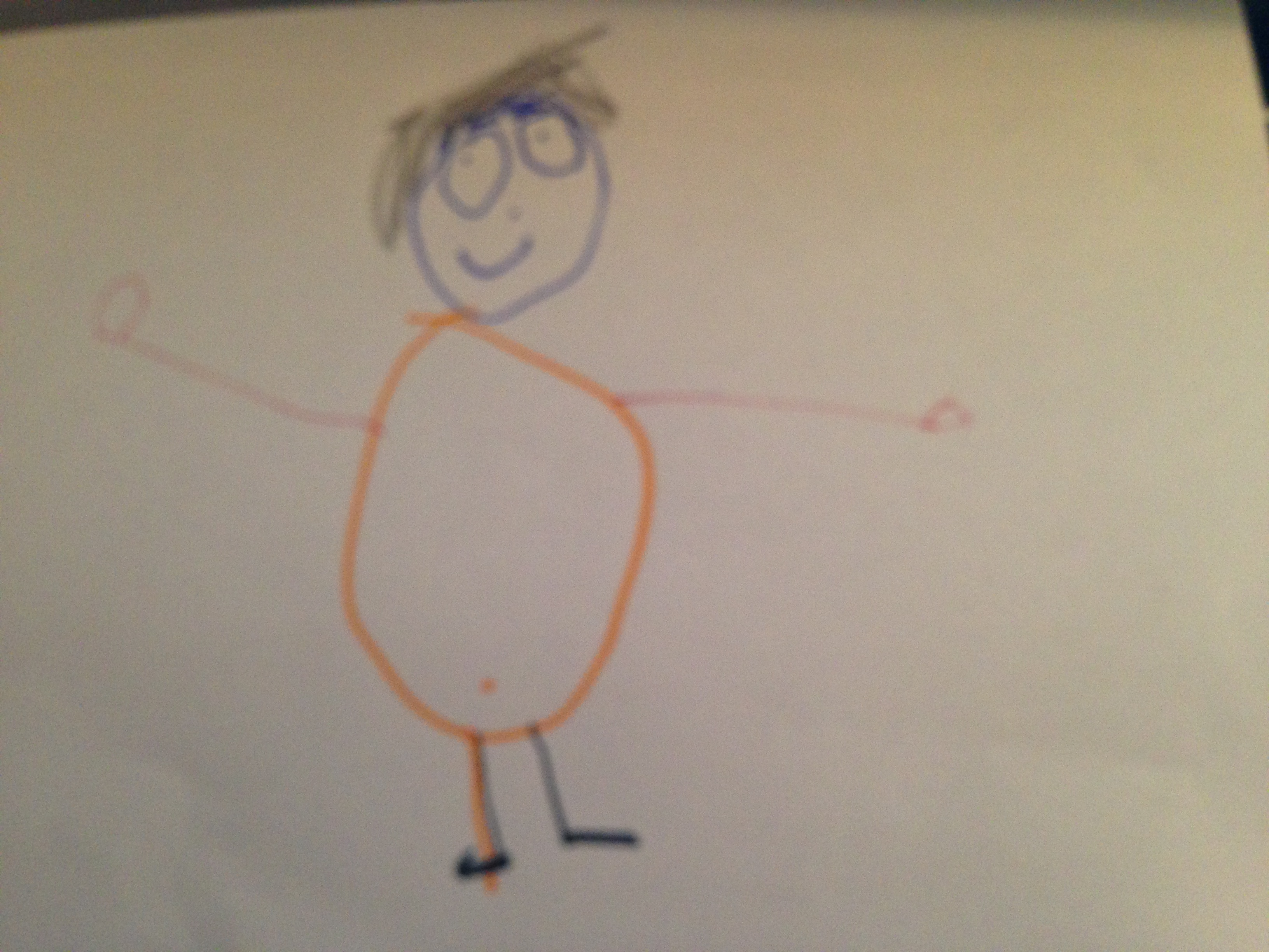 Elisah tekent Papie